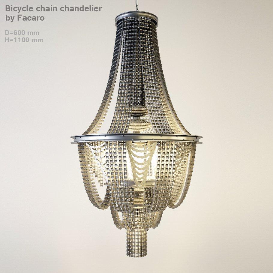 Bike chains chandelier