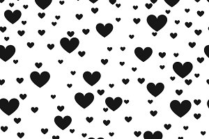 Heart black and white background