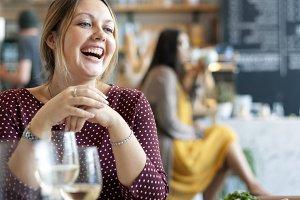 Women having dinner