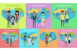 International Relations Banners Set