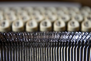 Printing letters of typewriter