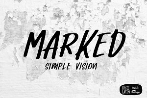 Marked Simple Marker Font