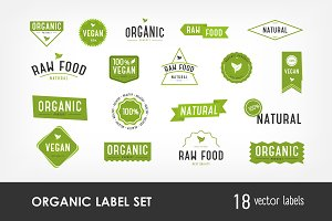 Set of organic, eco, natural labels