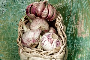 Fresh Pink Garlic
