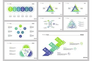 Eight Business Slide Templates Set