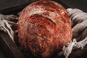 Homemade beet bread