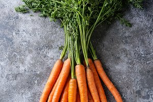 Bundle of fresh carrot