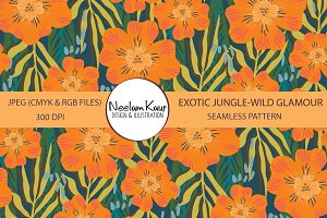 Exotic Jungle Seamless Pattern