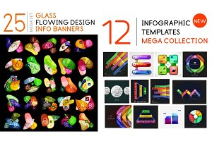 Infographic and banner geometric templates