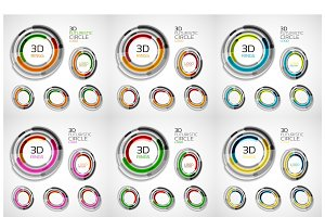 Vector circle banners set