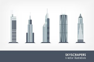 Set of skyscrapers