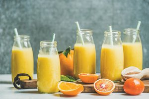 Healthy yellow smoothie