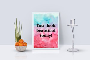 """You look beautiful today"" card"