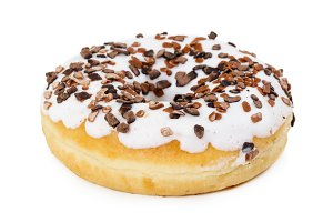 Donut with white icing