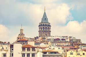 Galata district in Istanbul