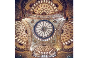 Blue Mosque intricate ceiling