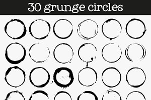 Mega set of grunge circle. vector
