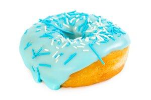 Donut with blue glaze
