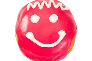 Berliner donut with smile
