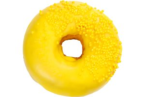 Donut with yellow glaze