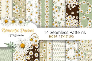 Daisies Watercolor Pattern