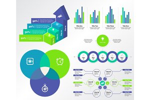 Five Marketing Charts Templates Set