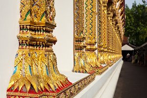 Thai temple pillars.