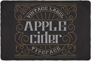 Apple Cider Typeface