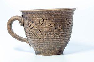 Clay mug for milk