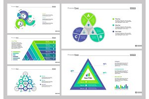 Five Statistics Slide Templates Set