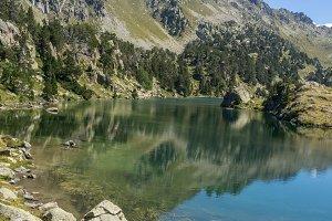 lake in spanish pyrenees