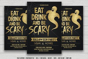 Eat Drink Be Scary-Halloween Flyer