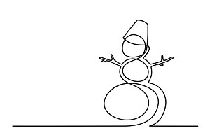 Christmas winter Snowman