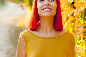 Attractive red haired girl