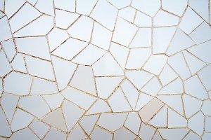 White ceramic mosaic pattern
