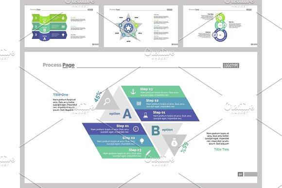 Four Management Slide Templates Set