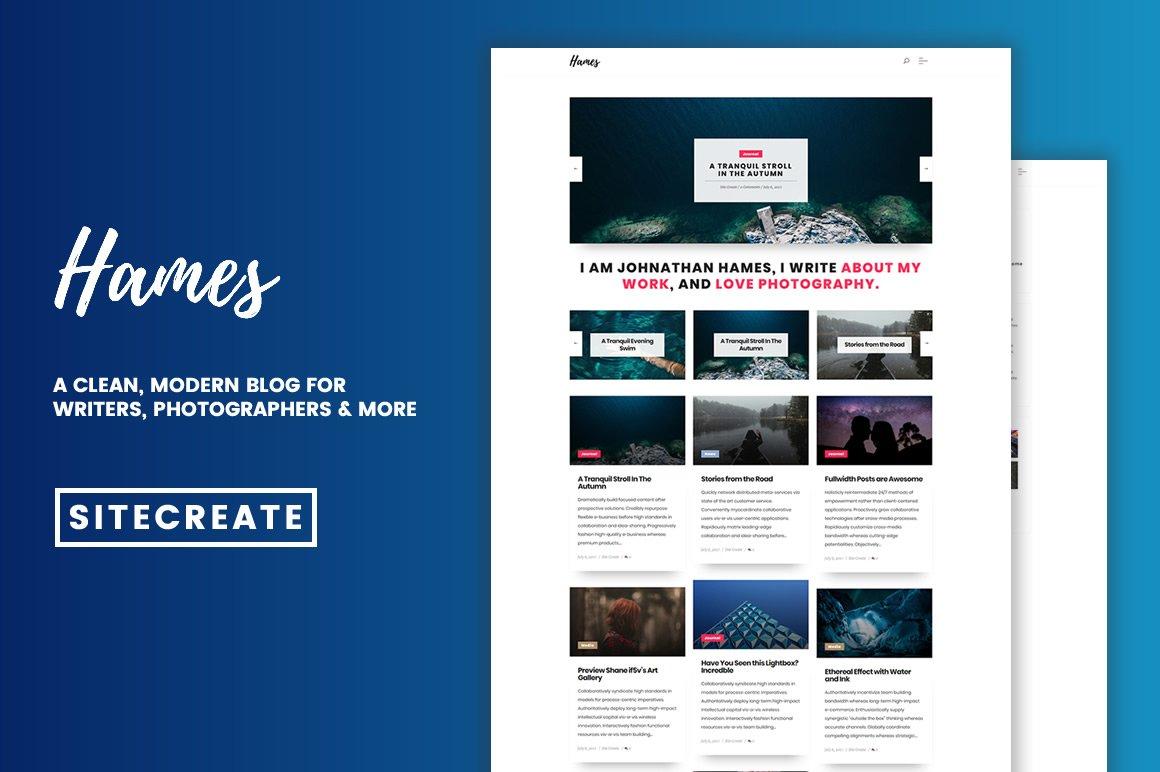 Hames - Sleek, Modern Blog Theme
