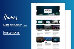 Hames - Sleek, Modern Blog Theme