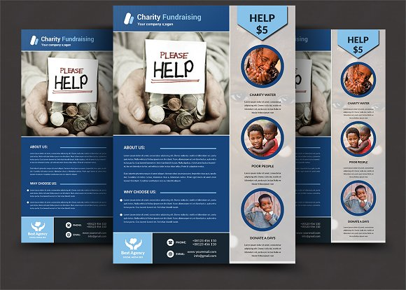 charity fundraising flyer templates flyer templates creative market