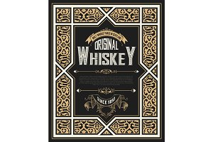 Vintage card for whiskey