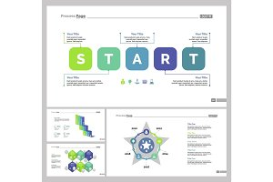 Four Startup Slide Templates Set