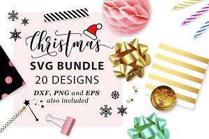 Christmas SVG Bundle SVG DXF PNG EPS