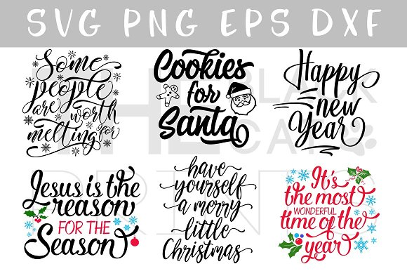 28+ Christmas Cut Files Bundle For Crafters (Svg, Dxf, Png) PNG