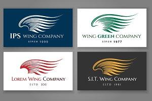 Winged logo company card set