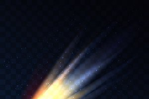 Star fall on transparent background