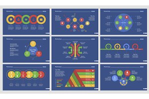 Nine Business Slide Templates Set