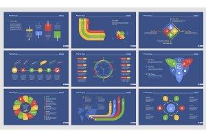 Nine Logistics Slide Templates Set