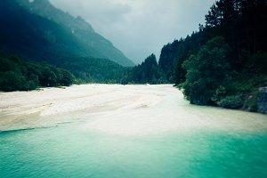 Landscape Shot of Mountain River
