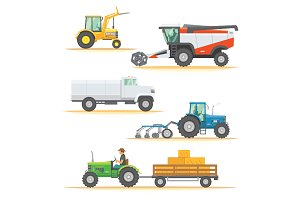 Vector set farm machinery