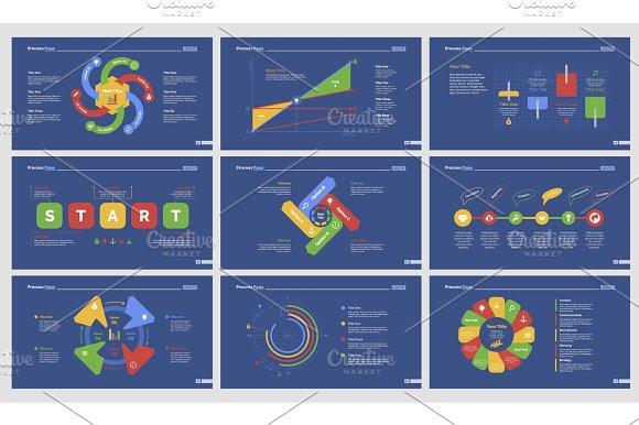 Nine Research Slide Templates Set